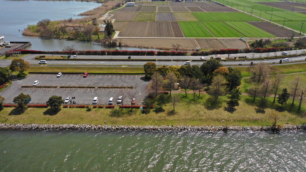 【草津市】『湖岸緑地 津田江-1(北側)』のアウトドア情報