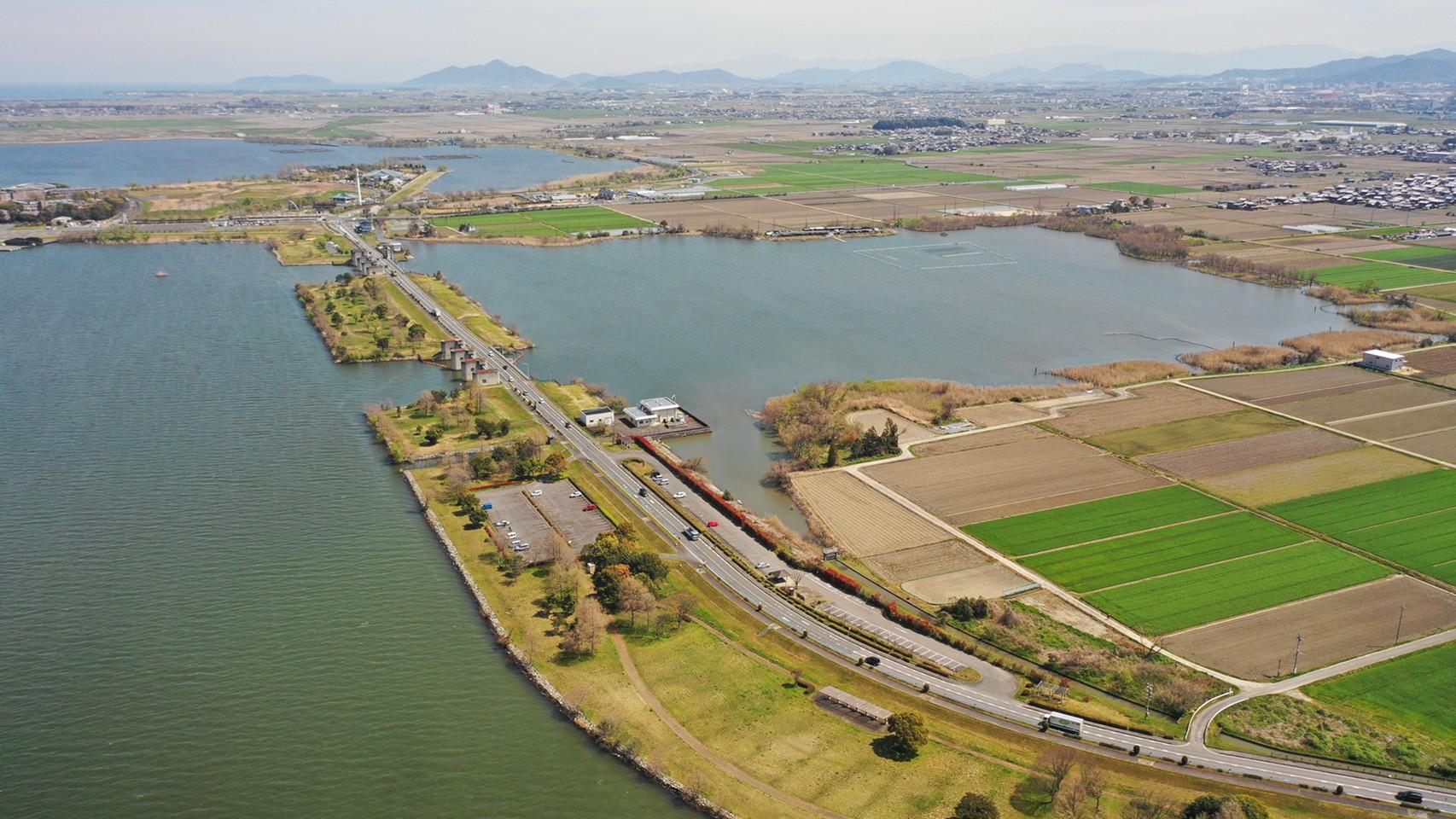 【草津市】『湖岸緑地 津田江-1(南側)』のアウトドア情報