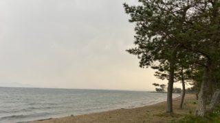 【大津市】『県営都市公園北浜湖岸緑地』アウトドア情報(駐車場・トイレ)