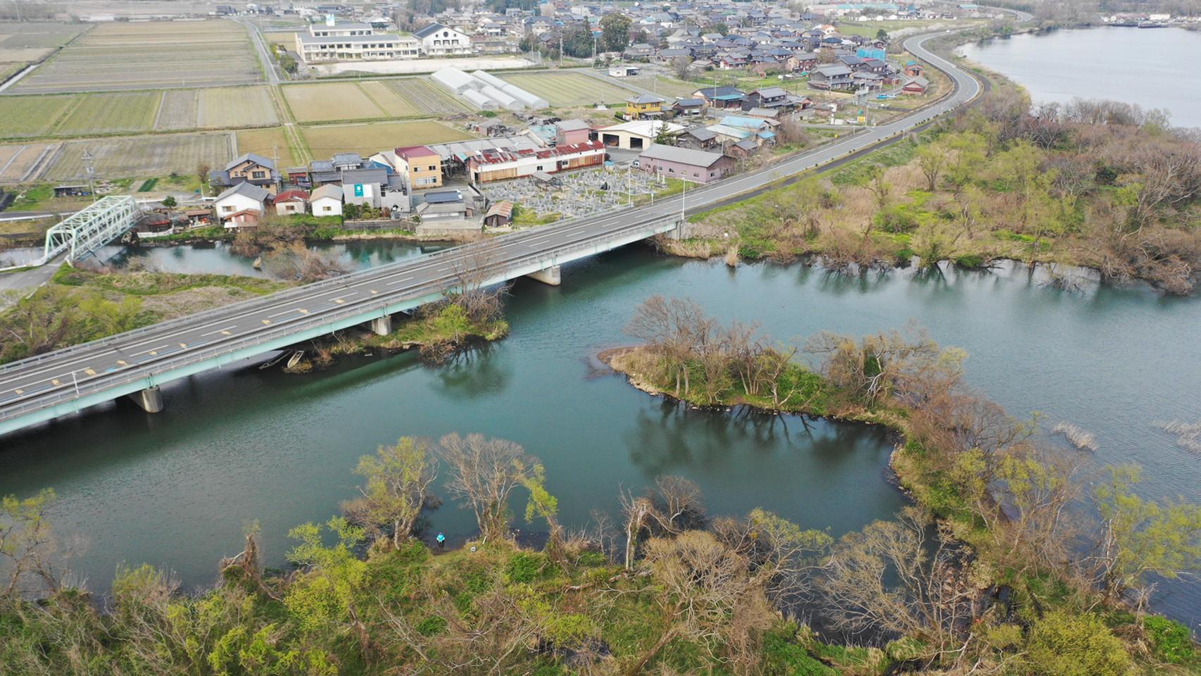 【高島市】『金丸川河口』の釣り場の様子