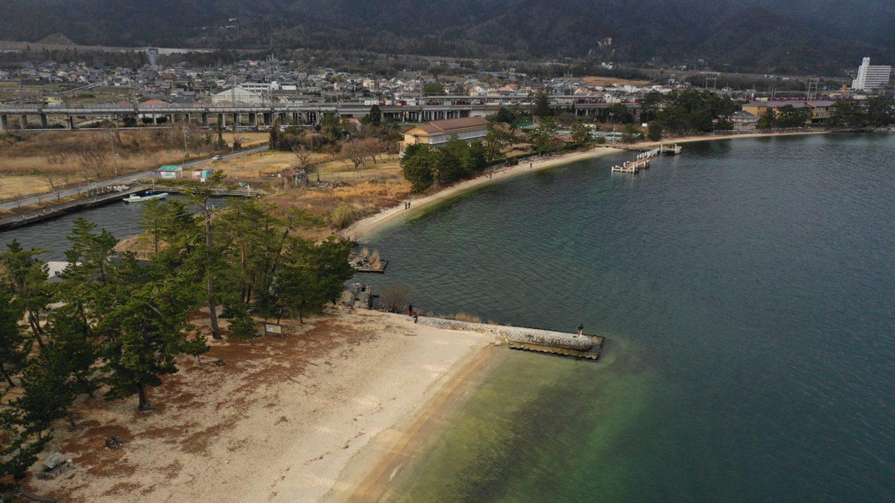 【大津市】『近江舞子中浜水泳場』のアウトドア情報(駐車場・トイレ・釣り)