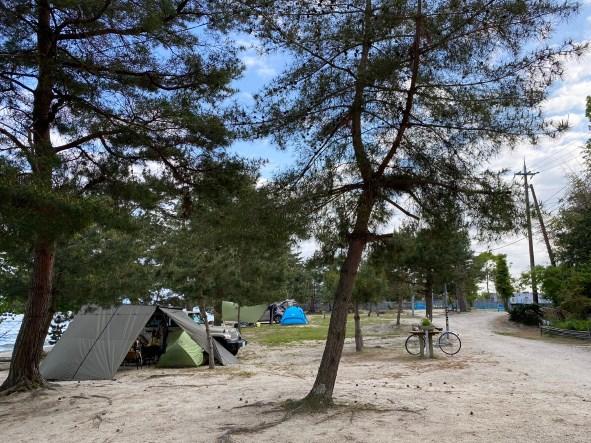 【大津市】『青柳キャンプ場・青柳浜水泳場』のアウトドア情報(駐車場・トイレ・釣り)