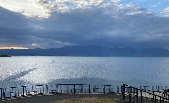 【琵琶湖サイクルの聖地】『しあわせの丘・中洲大橋』の観光ガイド(駐車場・釣り)