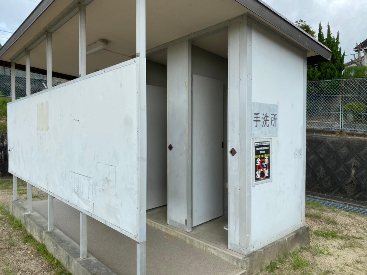 【大津市】『下龍華市民運動広場(伊香立ふれあいセンター)』写真ガイド(駐車場・トイレ)