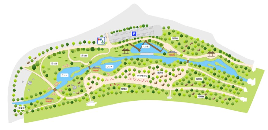 【守山市】県営都市公園『びわこ地球市民の森』情報まとめ(駐車場・トイレ)